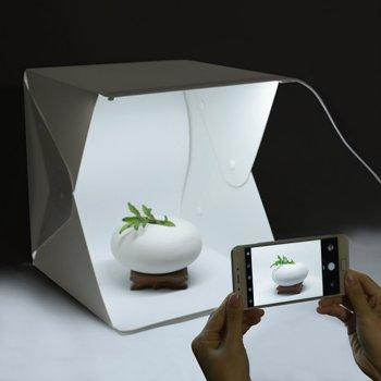 caja de fotografía iluminada