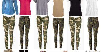 pantalón de camuflaje para mujer